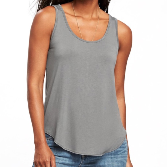 5bcc1a8f8333b3 Luxe Curved Hem Tank Top